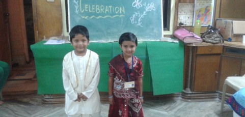 Children at the Republic Day Celebration