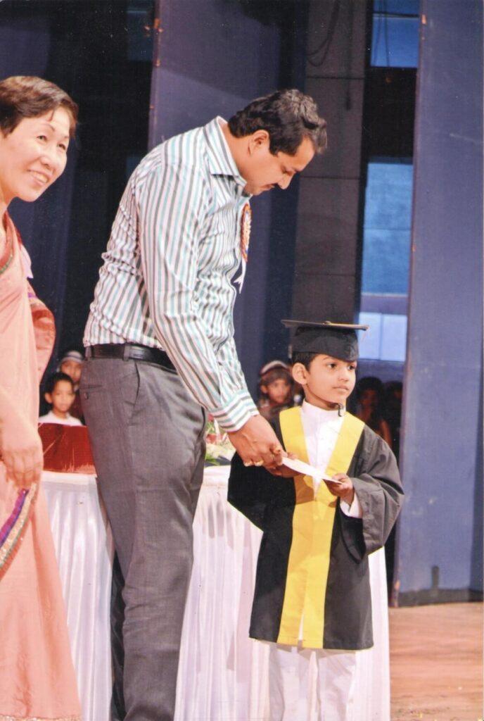 Shri. Vaibhav Naik visiting the school's Function