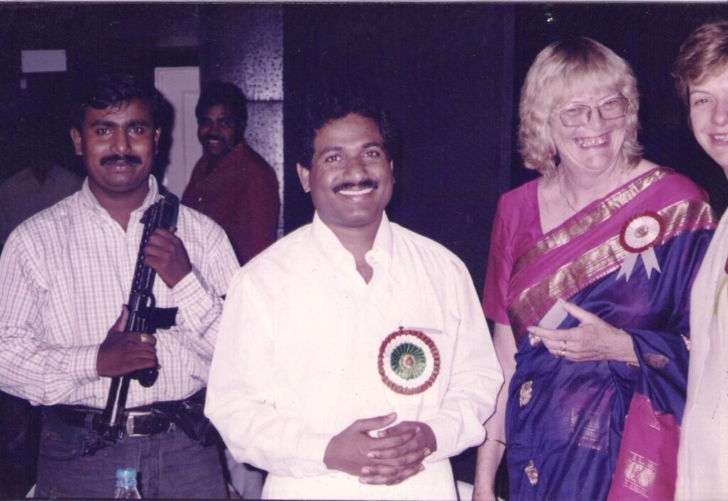 Shri. Sandeep Naik visiting the school's Function